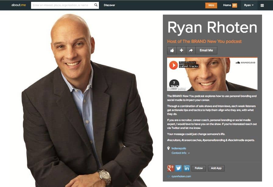 Ryan Rhoten's About.me page