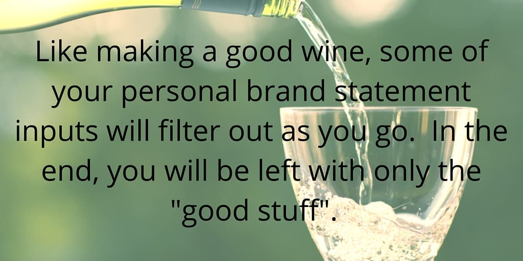 Filter your personal brand statement