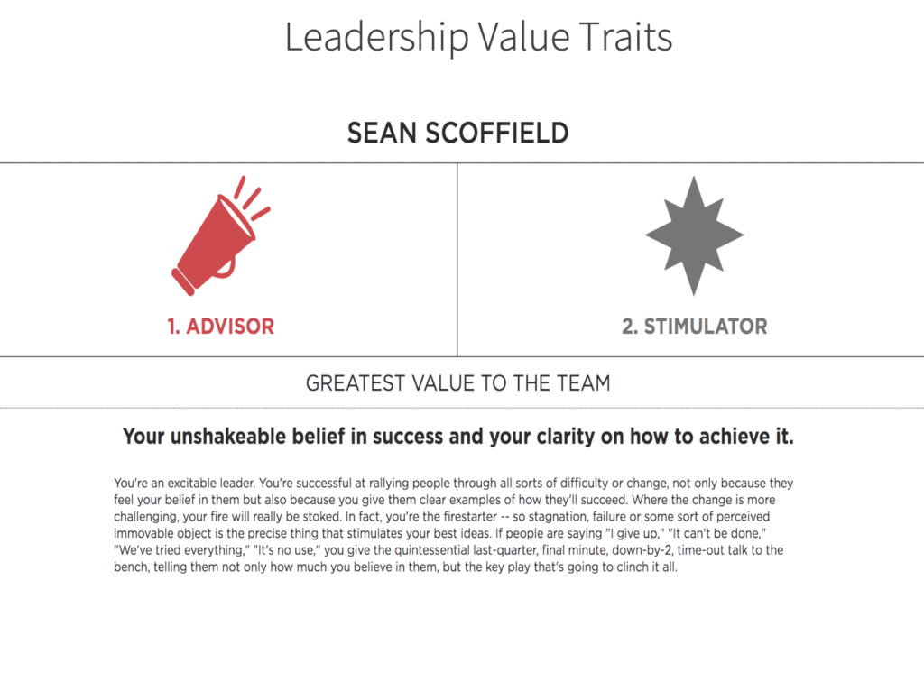 Leadership Value traits standout